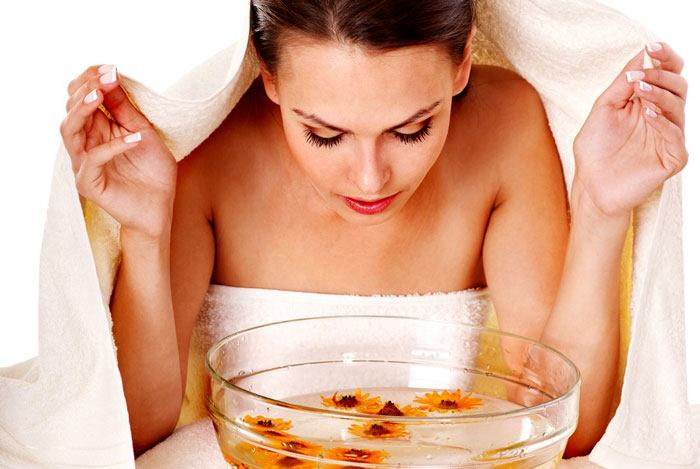 home remedies for pimples steam
