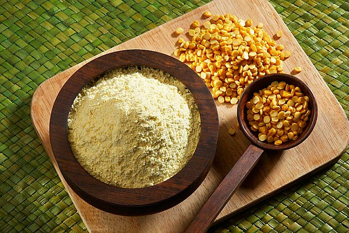 home remedies for shiny hair Gram Flour And Buttermilk