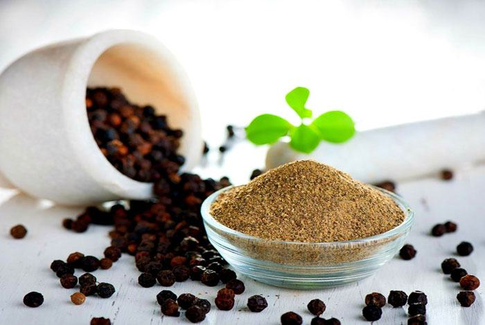 home remedies for swollen glands black pepper