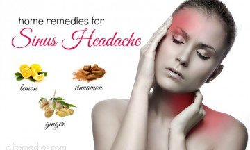 home remedies for sinus headache