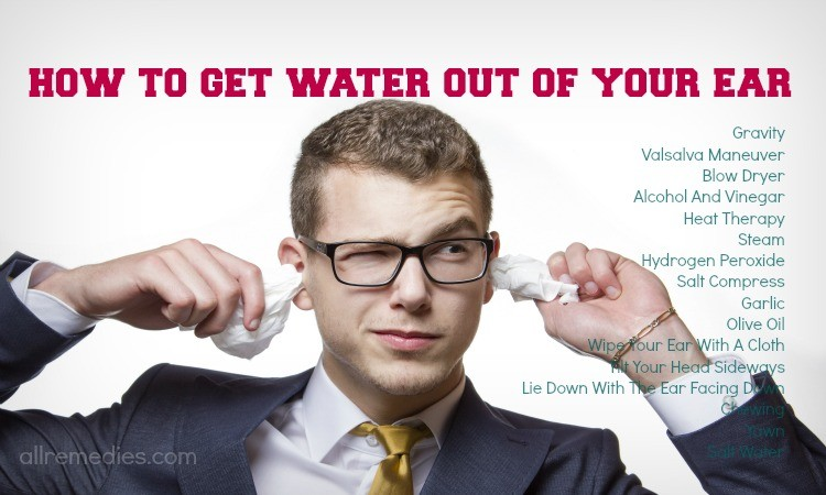 how to get water out of your ear