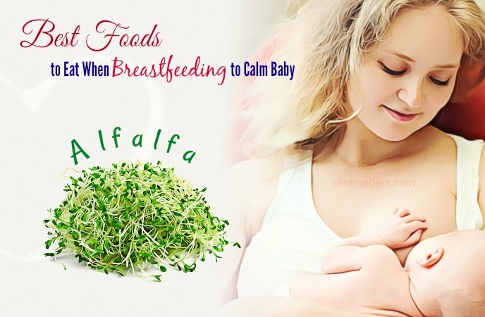 foods to eat when breastfeeding to calm baby