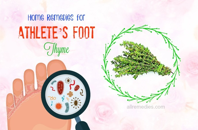 home remedies for athlete's foot with blisters-thyme