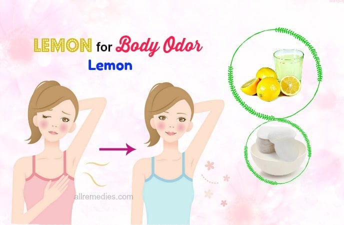 lemon for body odor remedies
