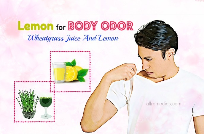 lemon for body odor treatment