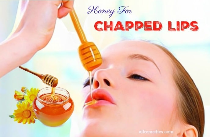 honey for chapped lips in winter
