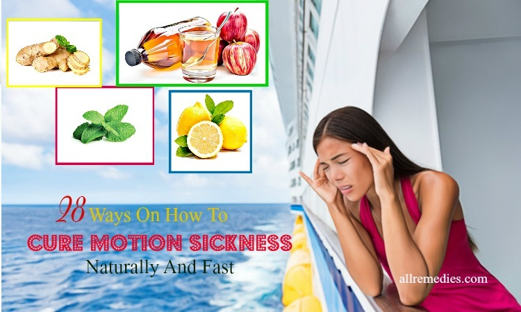 how to cure motion sickness