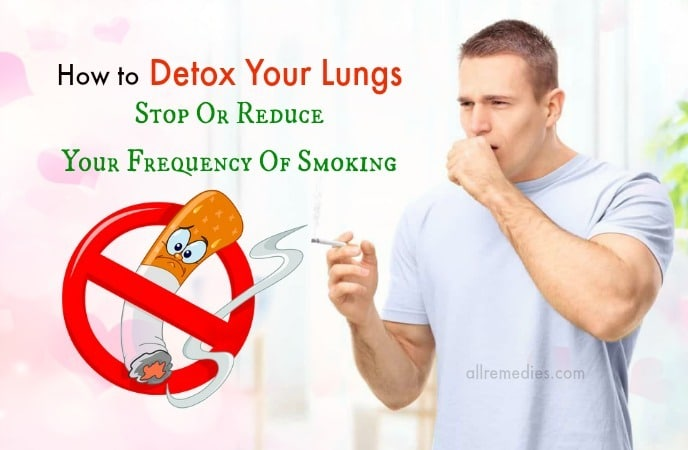 how to detox your lungs at home