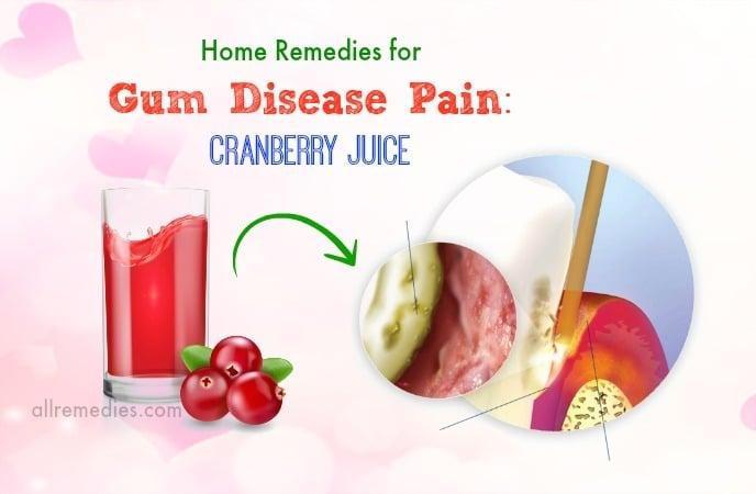 home remedies for gum disease pain
