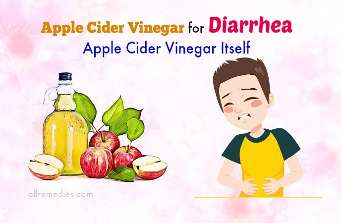 vinagre de sidra de manzana crudo para la diarrea